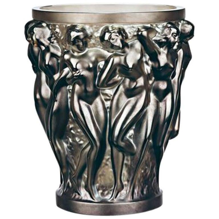 Lalique Bacchantes Vase Bronze Crystal
