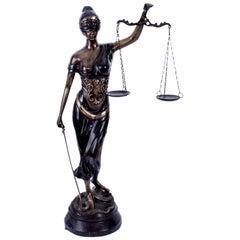 Impressive Bronze Lady Justice