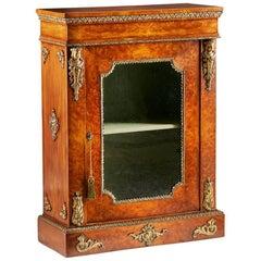 Victorian Burr Walnut and Gilt Side Cabinet, circa 1860