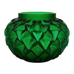 Lalique Languedoc Vase Green Crystal