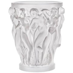 Lalique Bacchantes Vase in Clear Crystal