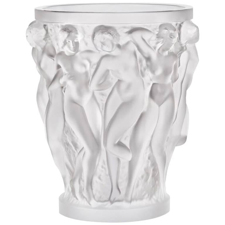 Lalique Bacchantes Vase Clear Crystal