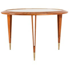 Mahogany and Glass Coffee Table by Bertil Fridhagen