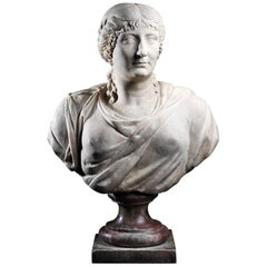 Roman Marble Presumed Portrait of Agrippina Maior, circa 14 BC-33 AD