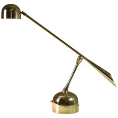 Continuum-II Contemporary Articulating Brass Table Lamp, Flow Collection