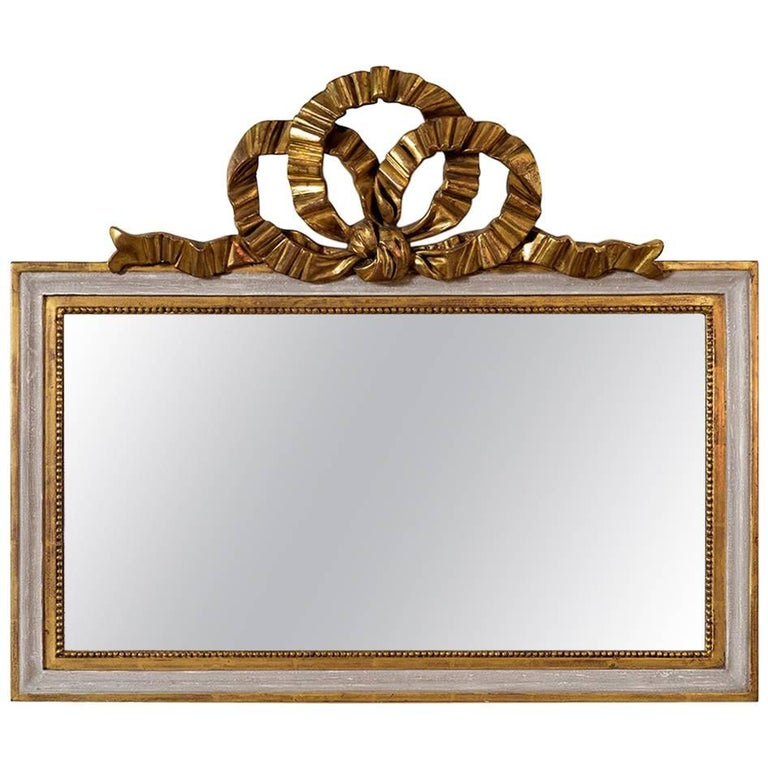 Louis XVI Style over Mantle Chest Mirror