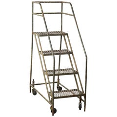 Industrial Mobile Library Ladder