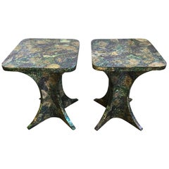 Maitland-Smith Paua Shell Inlaid Occasional Table