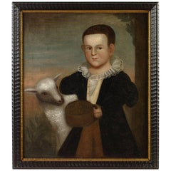 Portrait of a Young Boy with Lamb by Zedekiah Belknap