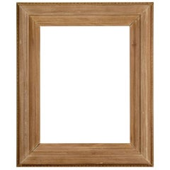 Hand-Carved Beached Mahogany Frame