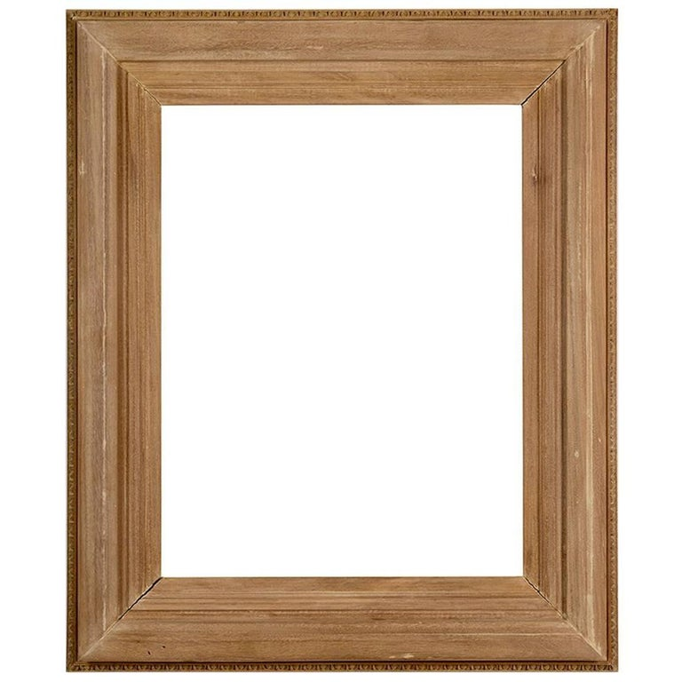 Hand-Carved Beached Mahogany Frame For Sale