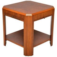 1920s Art Deco Vintage Walnut Coffee Table or Side Table