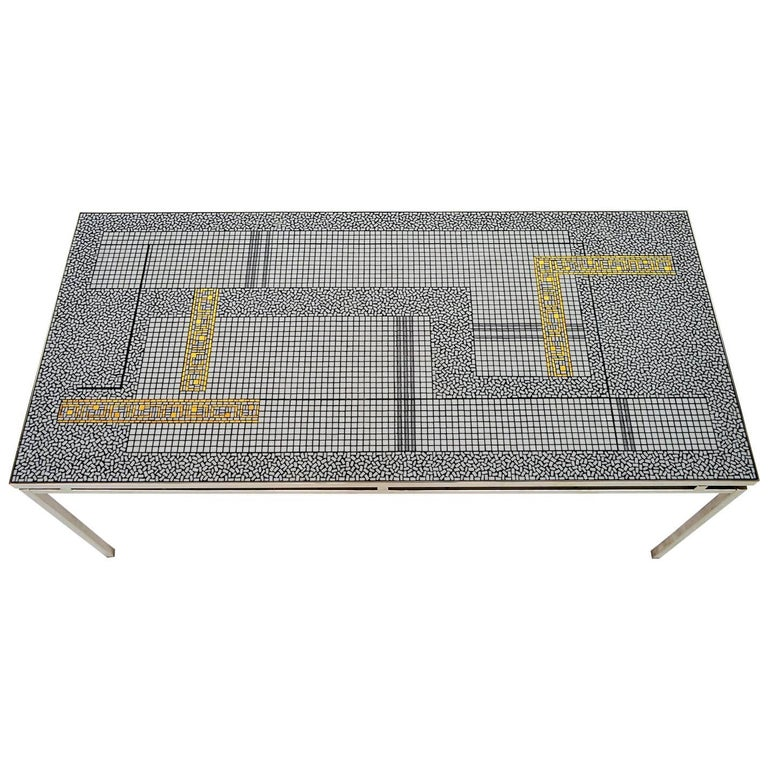 German Mosaic Coffee Table by Berthold Müller Oerlinghausen, 1960s