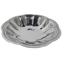 Tiffany Art Deco Sterling Silver Petal Bowl
