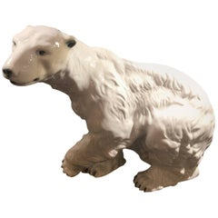 Large Royal Dux Polar Bear