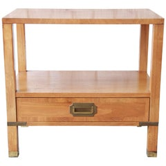 Baker Furniture Milling Road Midcentury Campaign Nightstand