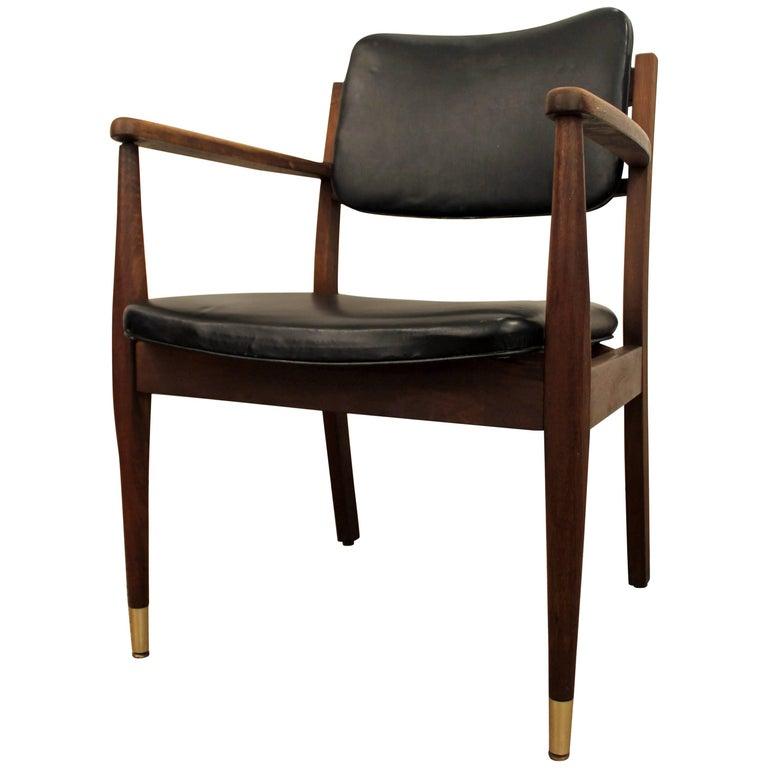 Mid-Century Modern Walnut Armchair For Sale