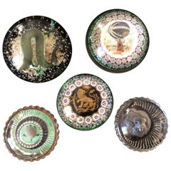 Five Pieces of Glass Paperweights from Italy and France, Circa 1900 - 1960
