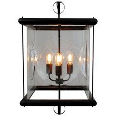 """New Brass Tube and Glass Pendant Lantern """"Bolle"""", Handmade in Italy, in Stock"""