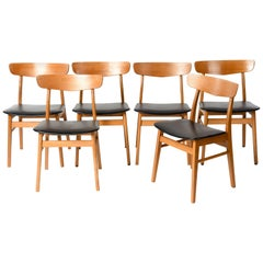 Set of Six Teak Chairs, SAX, Denmark, 1960