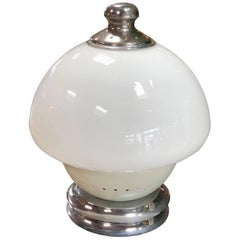 Italian Table Lamp, 1960s Double White Orb