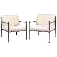 Pair of Welded Construction Modern Armchairs