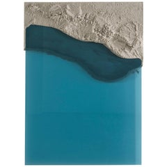 Fault Flatwork, Sand and Blue Glass by Fernando Mastrangelo
