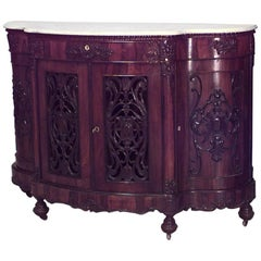 American Victorian Sideboard Serpentine Shaped Top