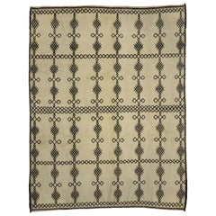 Contemporary Berber Moroccan Rug with Diamond Cross-Hatch Pattern