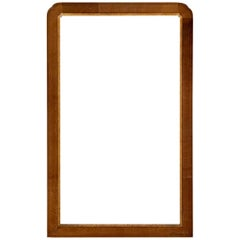 Cross Banded Mahogany Mirror Frame with Inner Decorative Liner