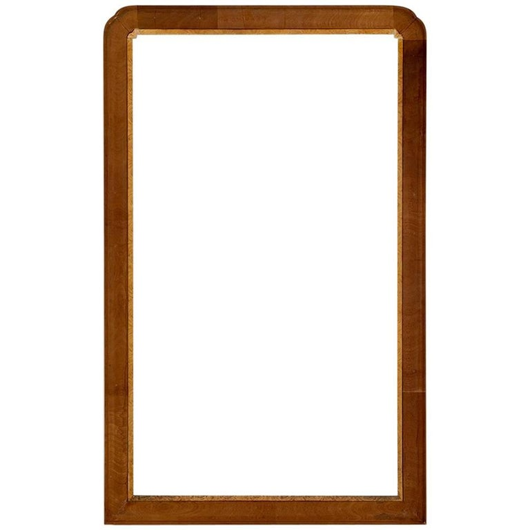 Cross Banded Mahogany Mirror Frame with Inner Decorative Liner For Sale