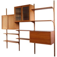 20th Century Poul Cadovius Royal System Modular Wall Furniture in Teak