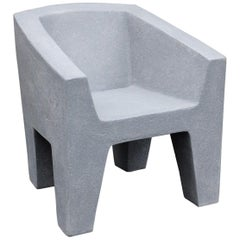Cast Resin 'Van Eyke' Club Chair, Gray Stone Finish by Zachary a. Design