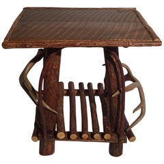 Adirondack Style Table with Horn Mounts