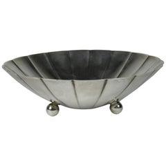 Mid-Century Modern Tiffany & Company Sterling Silver Lobed Bowl on Ball Feet