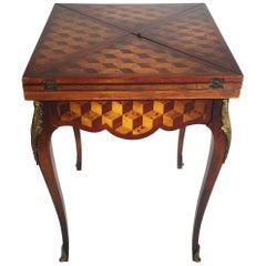 Parquetry Handkerchief Game Table by Theodore Alexander