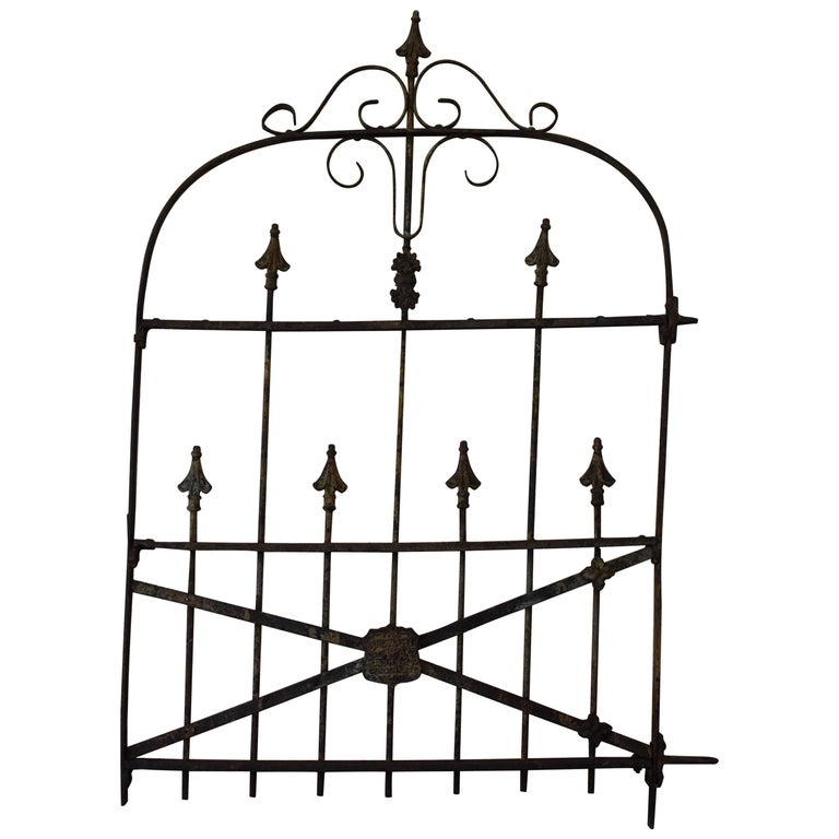 19th Century Iron Gate For Sale