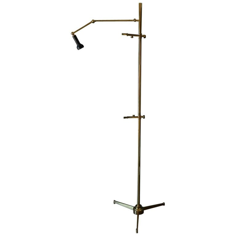 Brass Easel Lamp by Angelo Lelii for Arredoluce of Italy, circa 1970