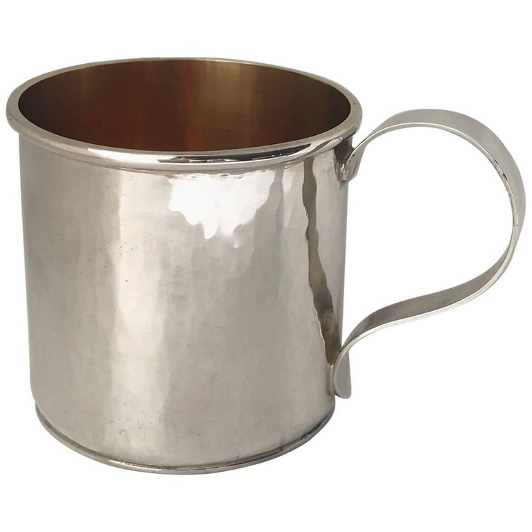 Sterling Silver Hand-Wrought Baby/Youth Cup For Sale