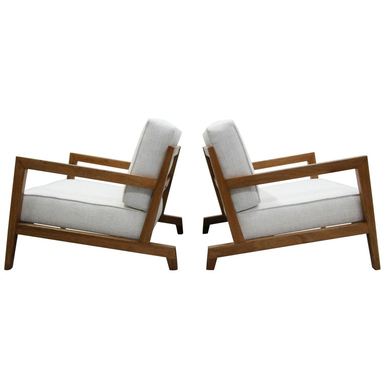 Pair of Midcentury Studio Craft Craftsman Style Lounge Chairs