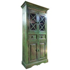 Magnificent Antique Cupboard Pantry French Painted Provincial Style Distressed