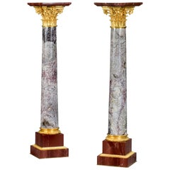 Very Fine Pair of Antique Napoleon III Marble and Ormolu Decoration