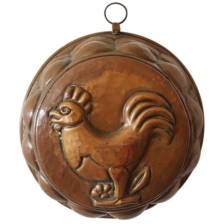 19th century dutch copper cake mold with rooster at 1stdibs