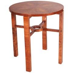 Small German Art Deco Walnut Table, Period 1930-1939