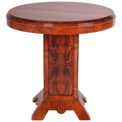 Small French Art Deco Table, Veneer is Combinated Walnut and Palisander