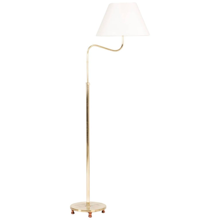 "Brass ""Camel"" Floor Lamp by Josef Frank"