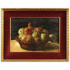 20th Century French Signed Still Life Painting Oil on Panel