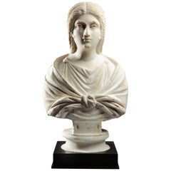 Roman Marble Bust of a Woman, 1st-2nd Century AD