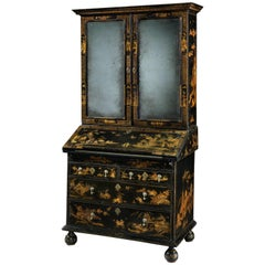 William & Mary Lacquered Bureau Bookcase