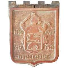 Mid-19th Century Bronze Wall Plaque of Dunkirk